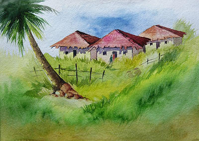 Landscape Painting - On the way by Deepali Sagade