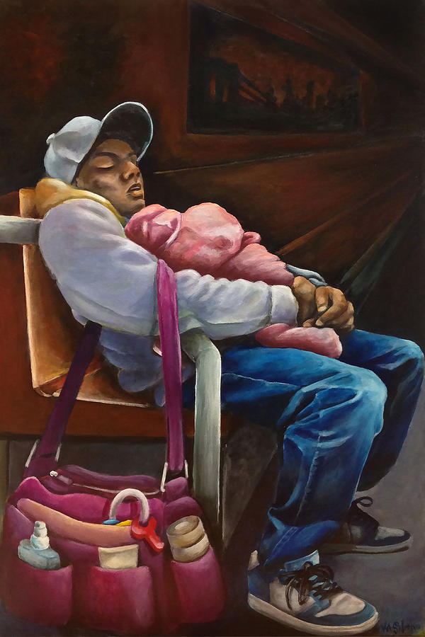 Father Painting - On The Way Home by Ka-Son Reeves