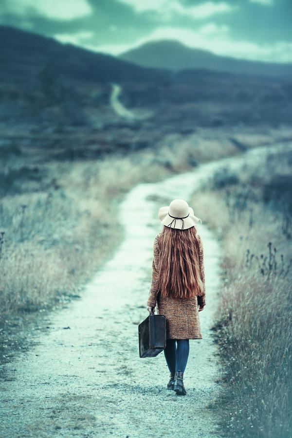 Girl Photograph - On The Way by Magdalena Russocka