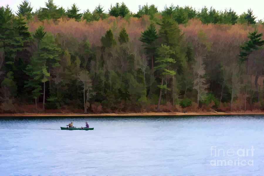Walden Pond Photograph - On Walden Pond by Jayne Carney