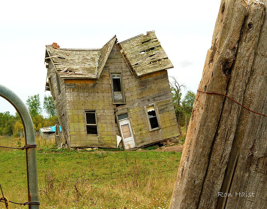 House Photograph - Once A Home by Ron Haist