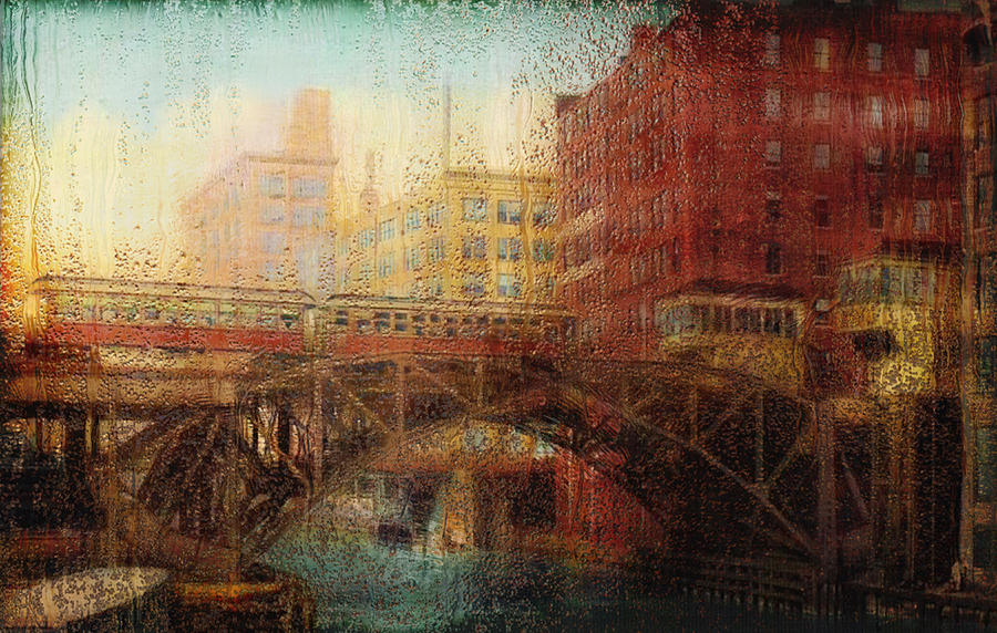 Photo Painting - Once A Rainy Day by Jack Zulli