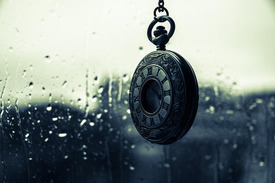 Clock Photograph - Once - A Vintage Watch by Andrea Mazzocchetti