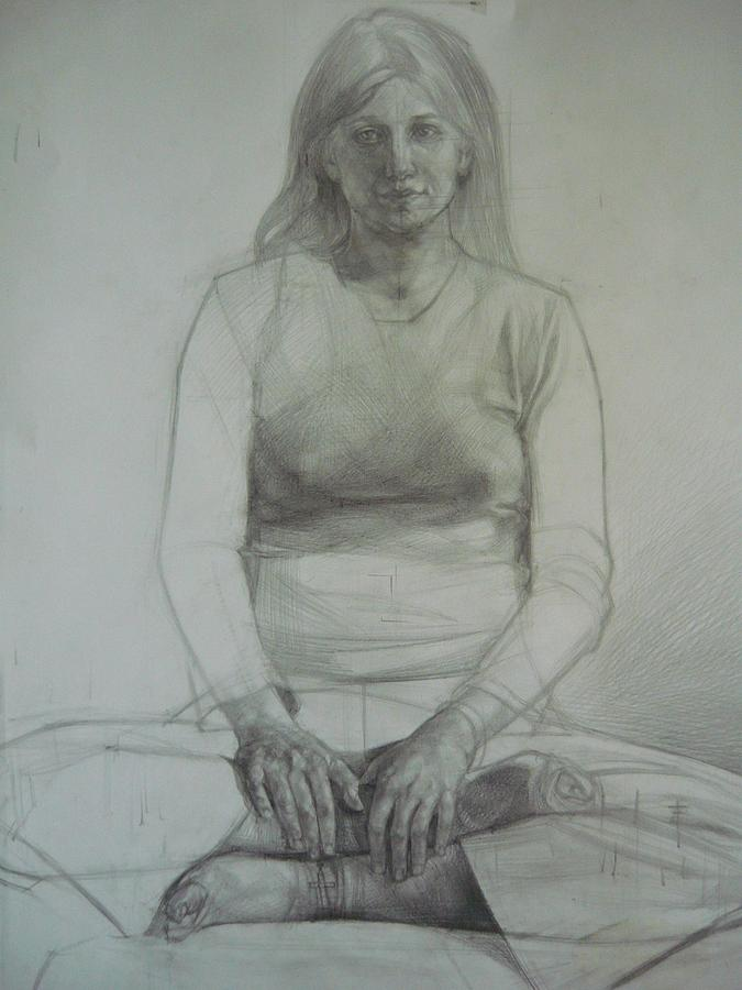 Drawing Drawing - Once by Laszlo Pal