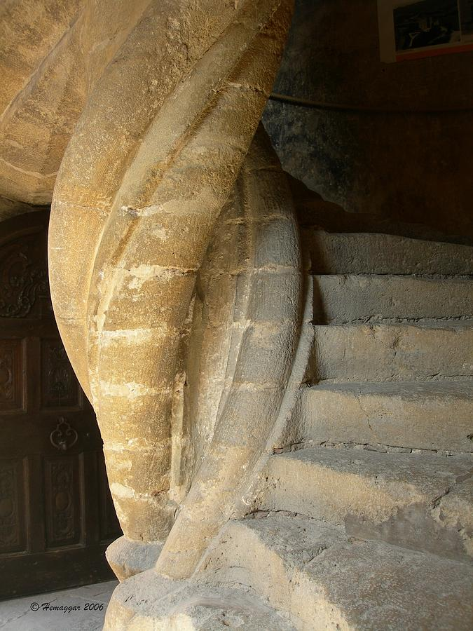 Staircase Photograph - Once Upon A Time In France by Hemu Aggarwal