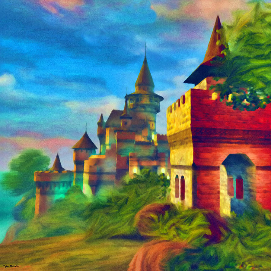 Castle Painting - Once Upon A Time by Tyler Robbins