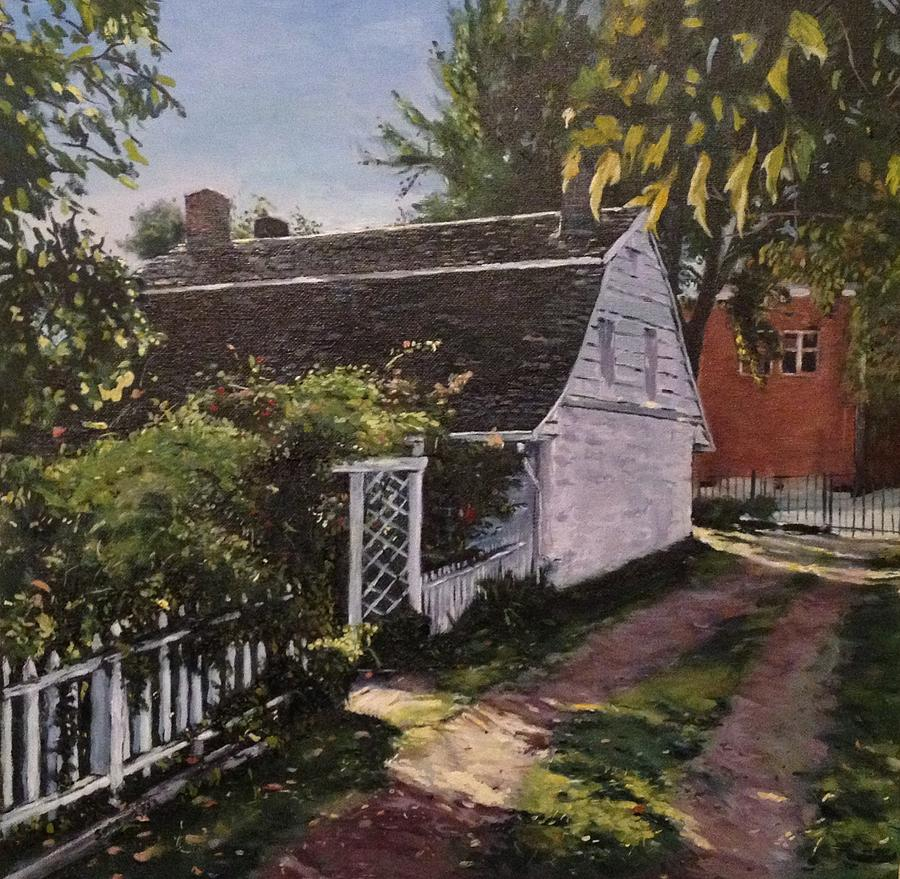 Onderdonk House Painting - Onderdonk House  Garden by Victor SOTO