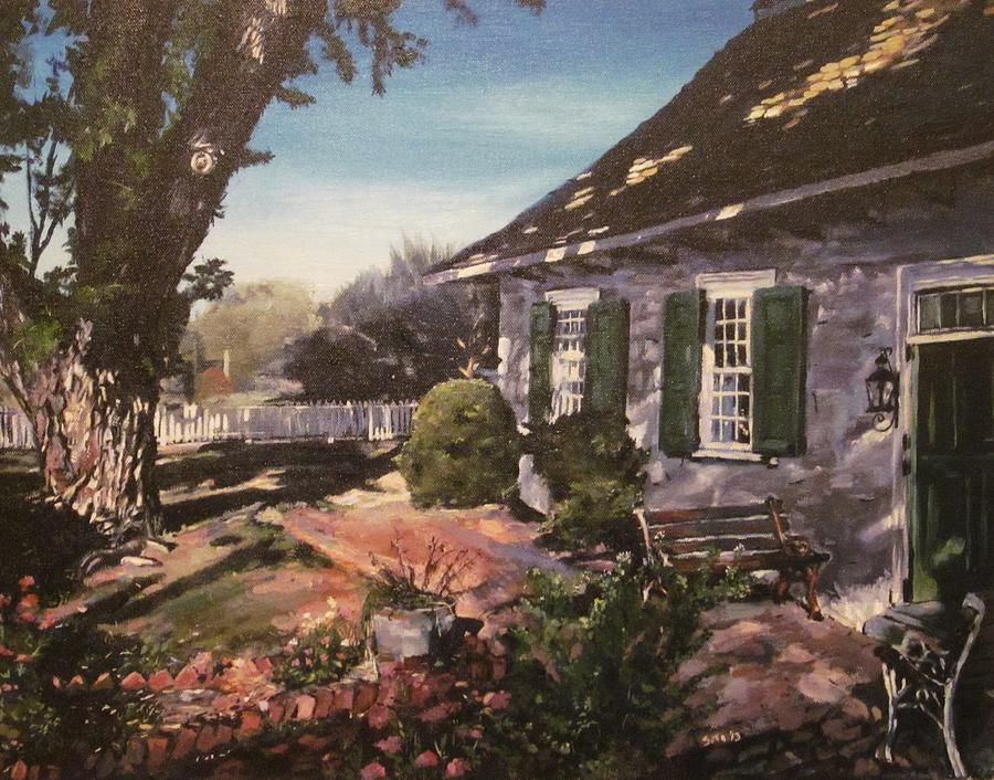 Landscape Painting - Onderdonk House by Victor SOTO