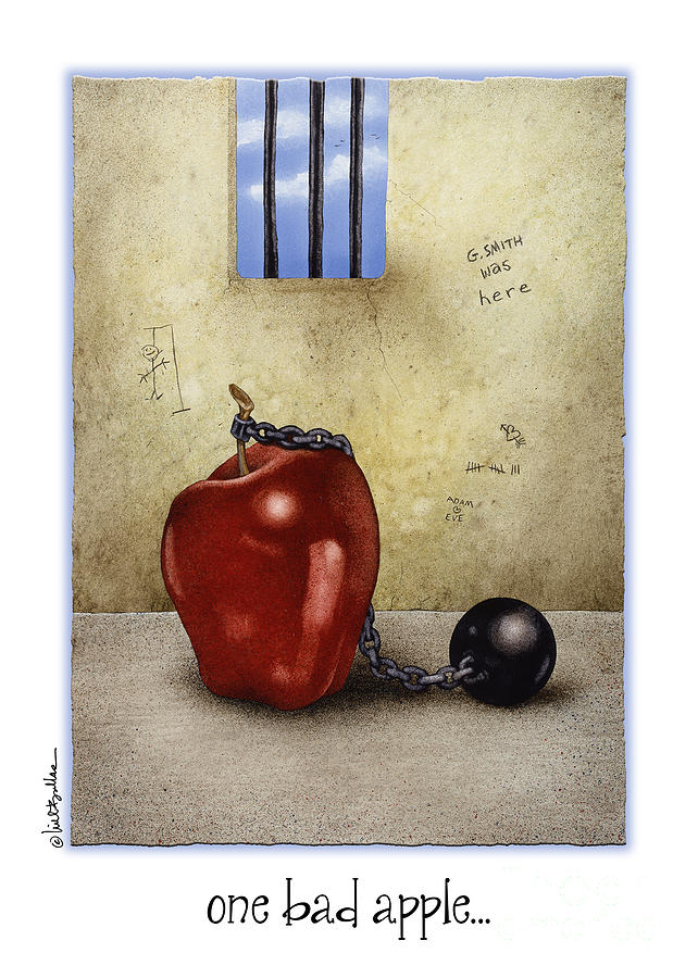 Will Bullas Painting - One Bad Apple... by Will Bullas