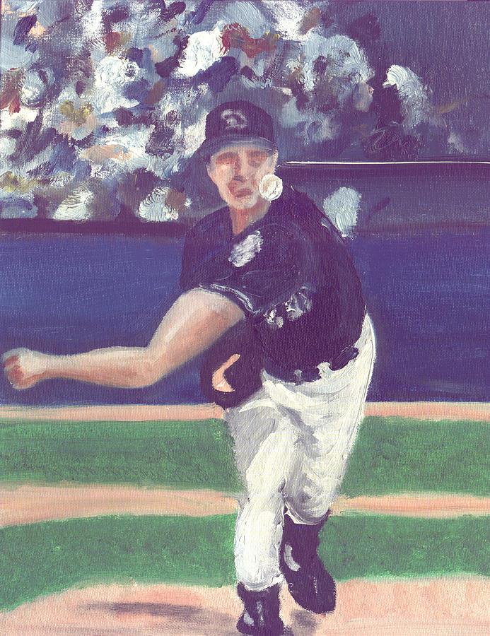 Baseball Painting - One Big Unit by Jorge Delara