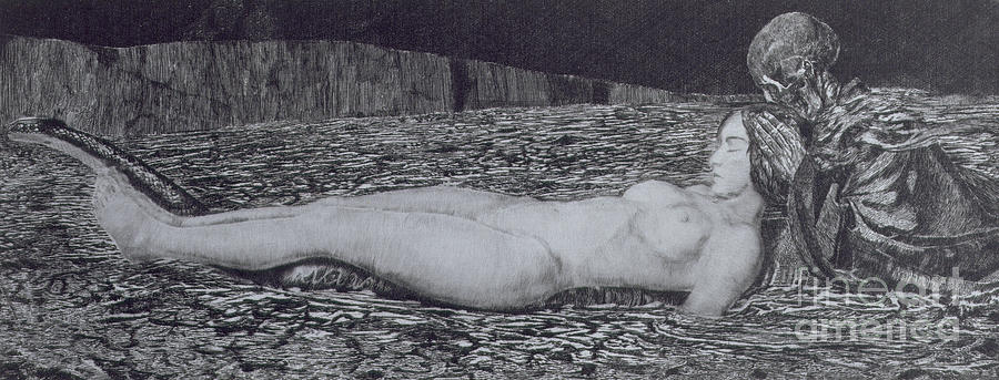 Nude Painting - One Corpse by August Bromse