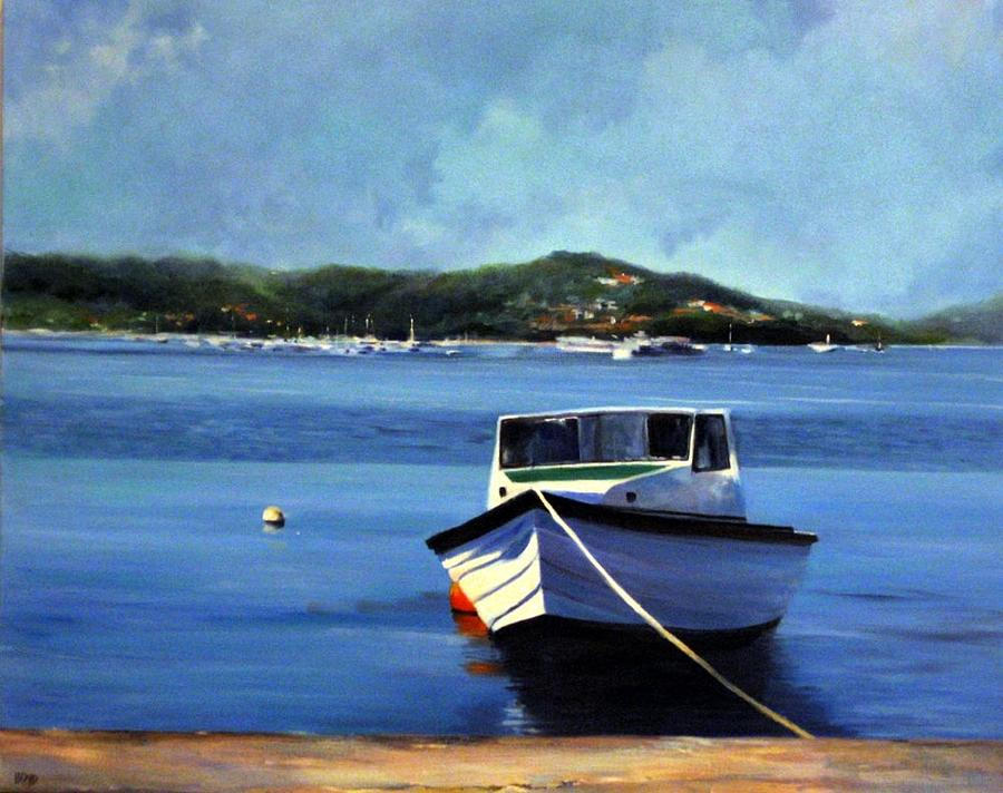 Boat Painting - One Day In Grenada by Cathy Boyd