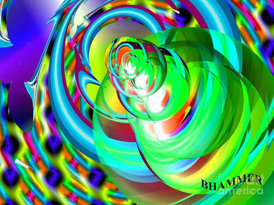 Colorful Digital Art - One Drop by Bobby Hammerstone