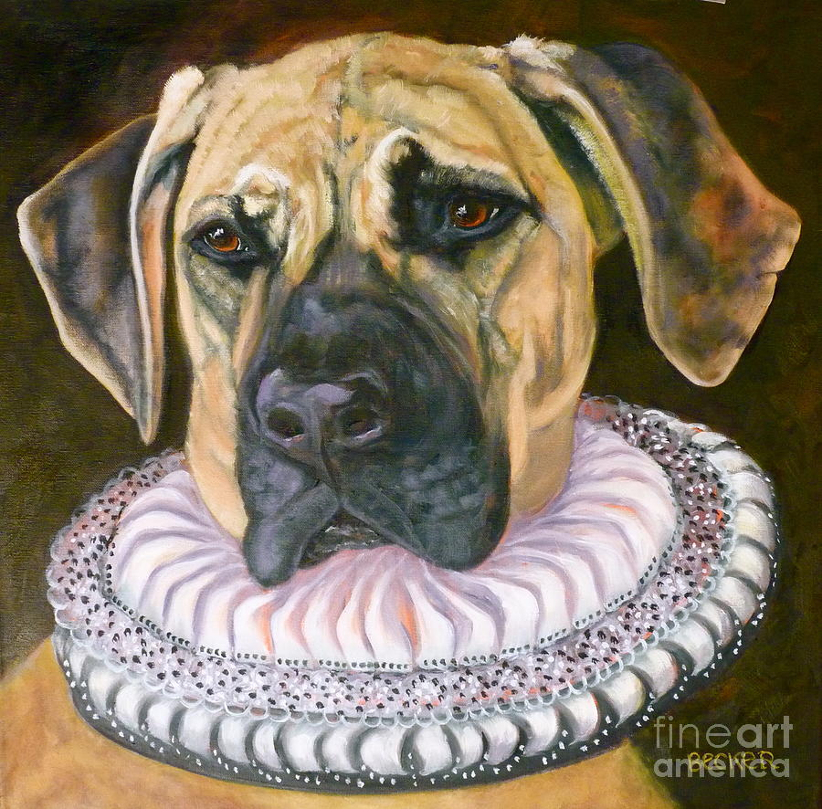 Pooch Painting - One Formal Pooch by Susan A Becker