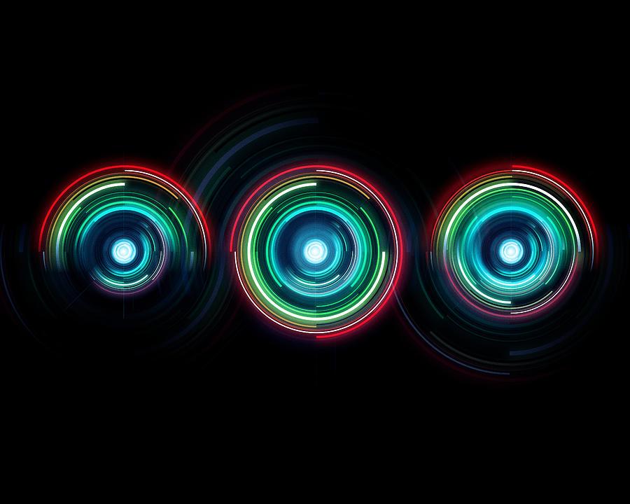 Rainbow Digital Art - One by George Smith