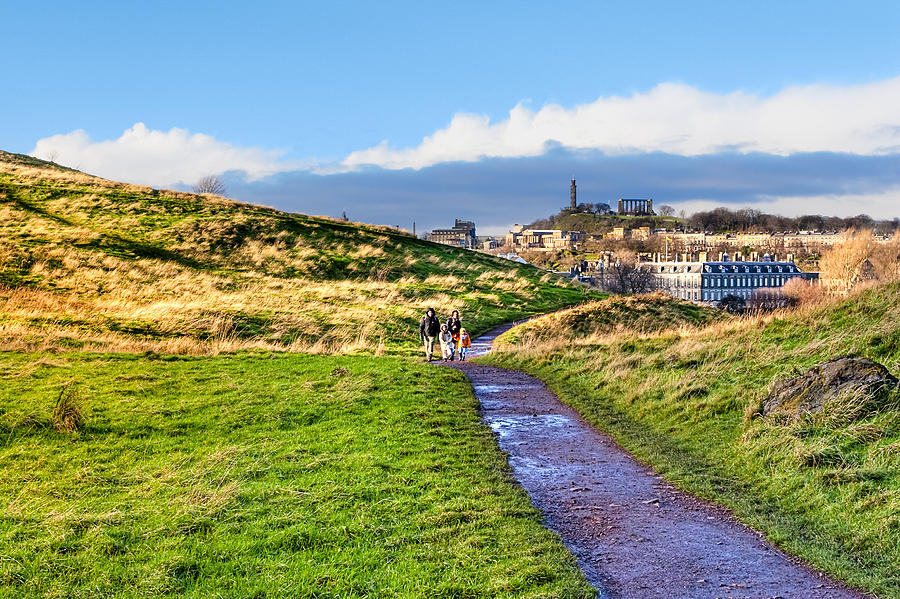 Edinburgh Photograph - One Golden Day In Edinburghs Holyrood Park by Mark E Tisdale