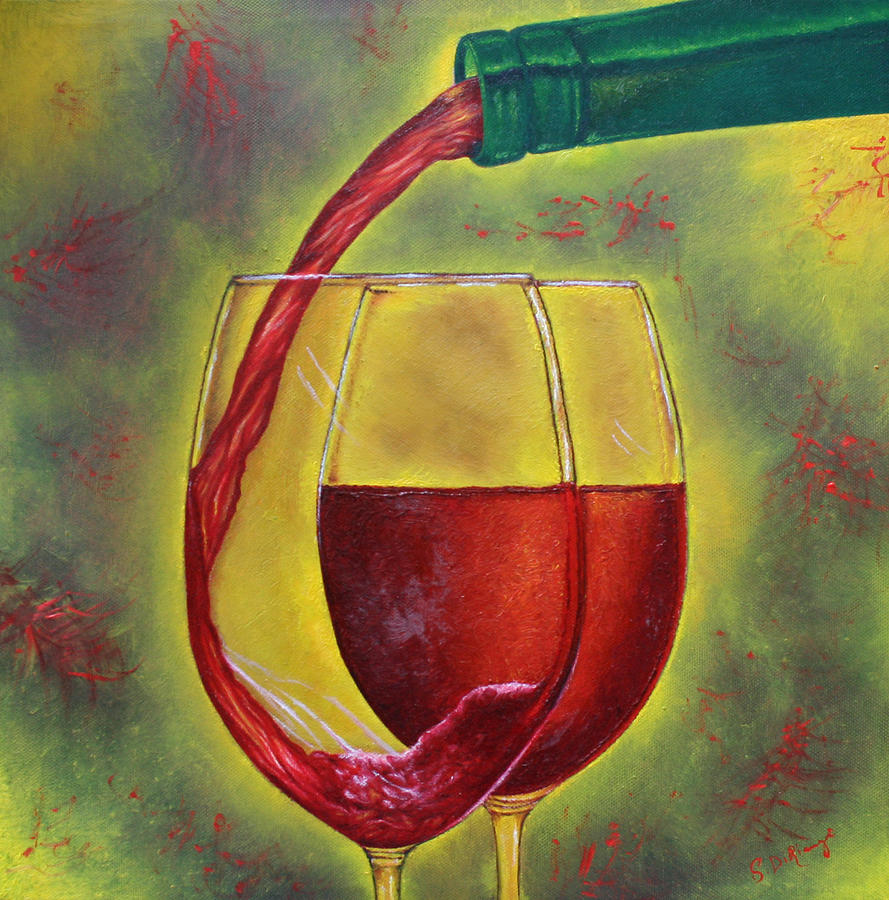 Still Life Painting - One Good Pour Deserves Another by Stephen J DiRienzo