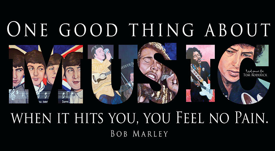 Beatles Digital Art - One Good Thing About Music by Tom Roderick