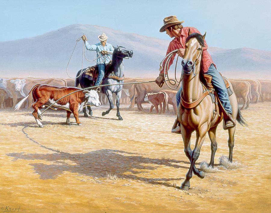 Horse Painting - One Heel by Paul Krapf