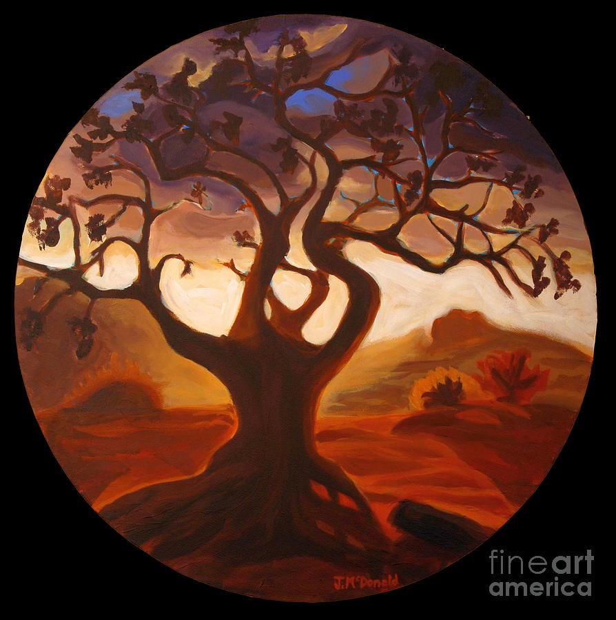 Tree Painting - One by Janet McDonald