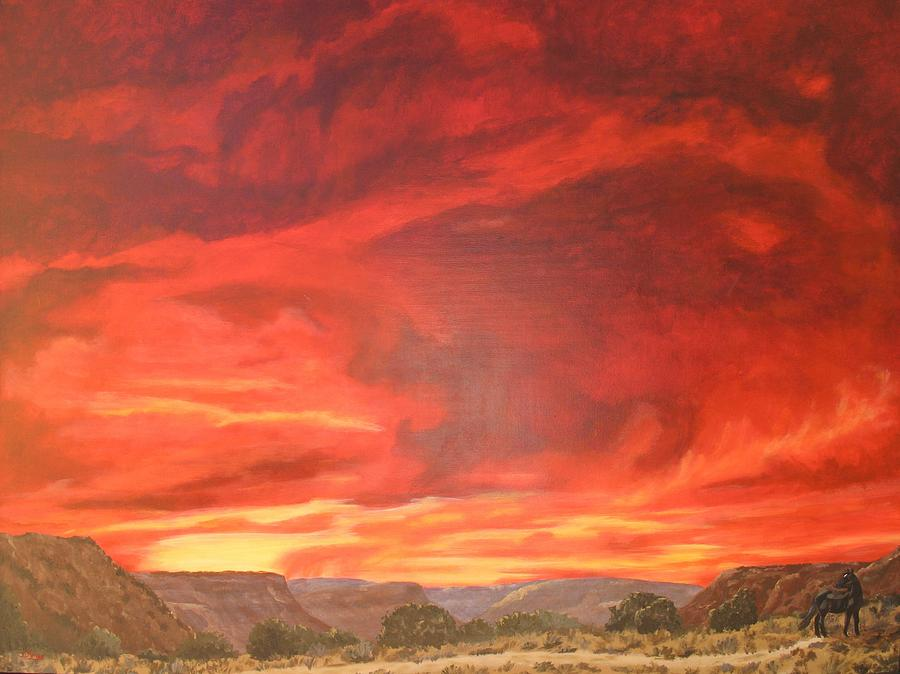 Western Painting - One Last Look by Janis Mock-Jones