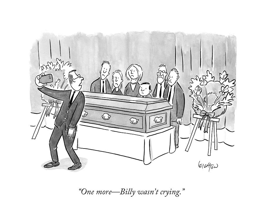 One More - Billy Wasnt Crying Drawing by Robert Leighton