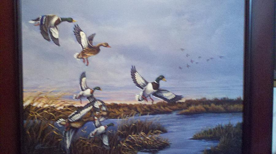 Mallards Painting - One More Pass by Dan Parsons