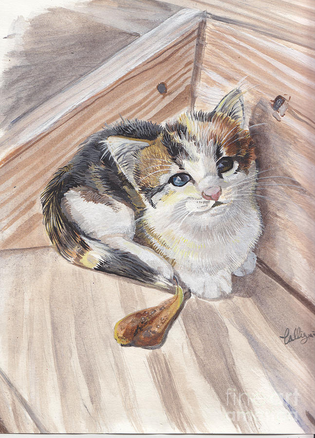 Kittens Painting - One More Step by Callie Smith