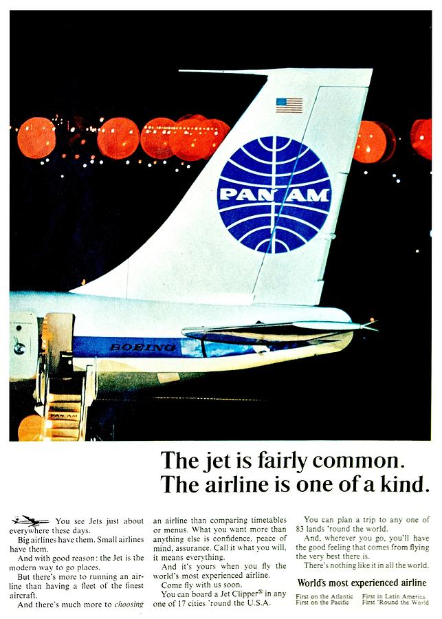 Pan Am Photograph - One Of A Kind by Benjamin Yeager