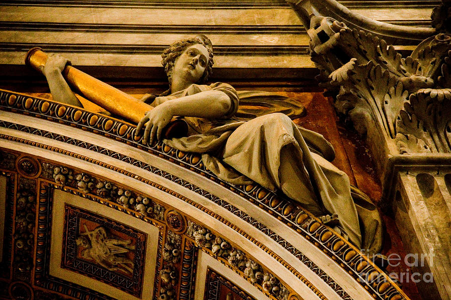 One of many vatican art carvings photograph by mark gerace