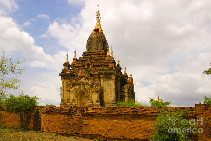 Buddhist Photograph - One Of The Countless Buddhist Pagodas In Bagan Burma by PIXELS  XPOSED Ralph A Ledergerber Photography