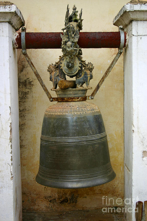 ONE OF THE MANY TEMPLE BELLS ON THE SHWEZIGON PAGODA COMPLEX NYAUNG OO BAGAN BURMA by PIXELS  XPOSED Ralph A Ledergerber Photography