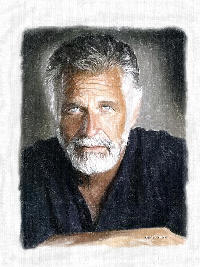 Man Painting - One Of The Most Interesting Man In The World by Angela Stanton