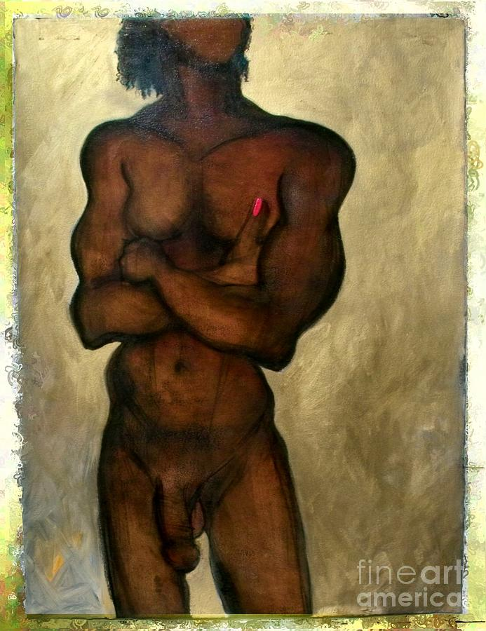 One of the Three Wise Men - Male Nude by Carolyn Weltman