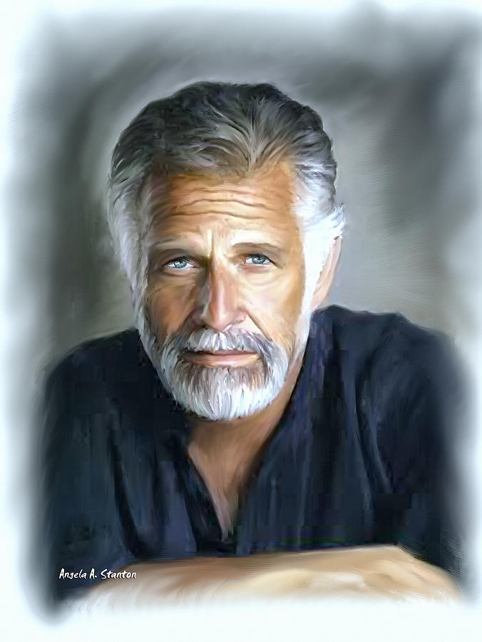 one of the world s most interesting man in oil painting by angela