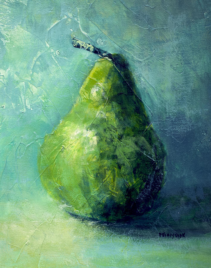 Pear Painting - One Pear by Bob Pennycook