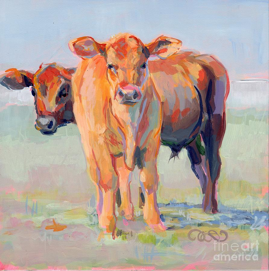 Bovine Painting - One Plus One by Kimberly Santini