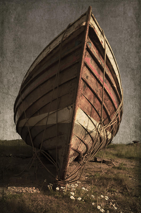 Abandoned Photograph - One Proud Boat by Svetlana Sewell
