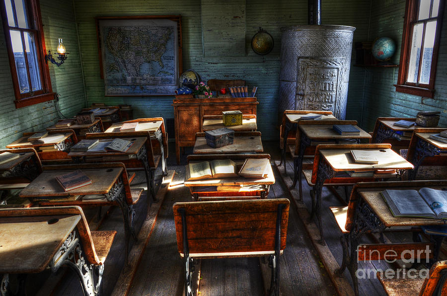 School Photograph - One Room School House by Bob Christopher