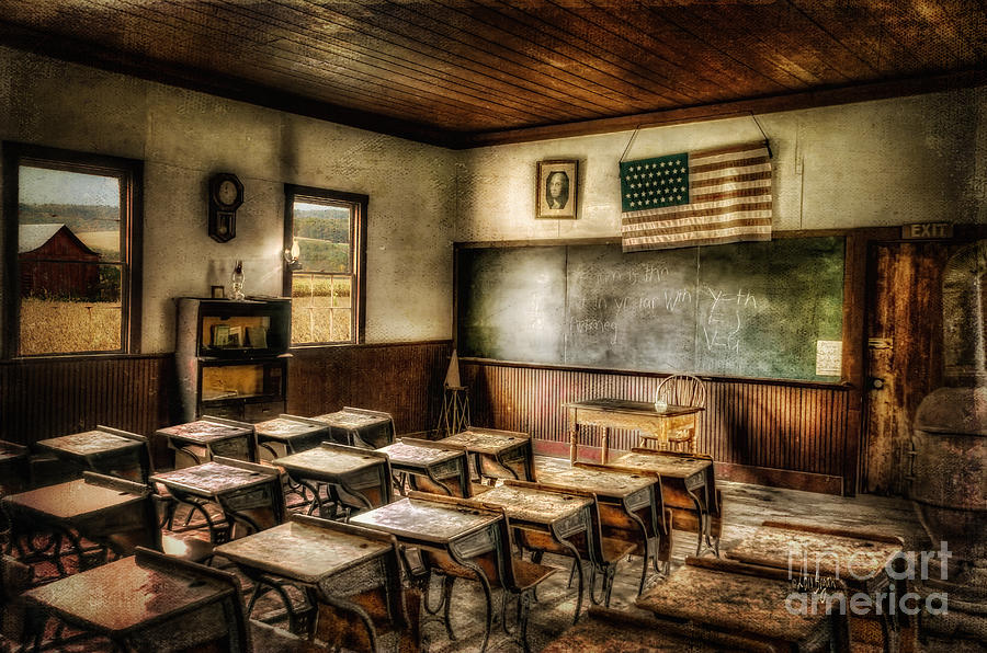 School Photograph - One Room School by Lois Bryan