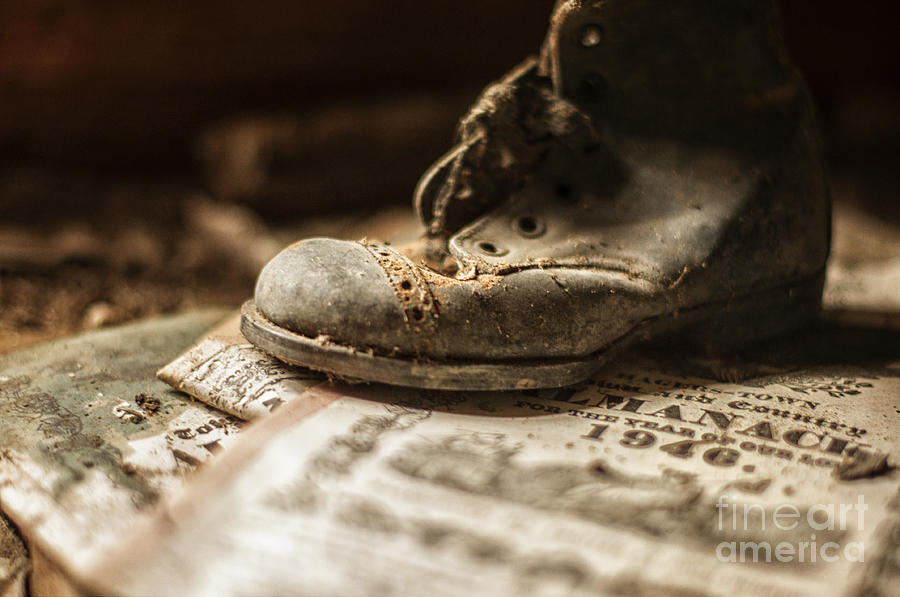 Child Photograph - One Single Shoe by Terry Rowe