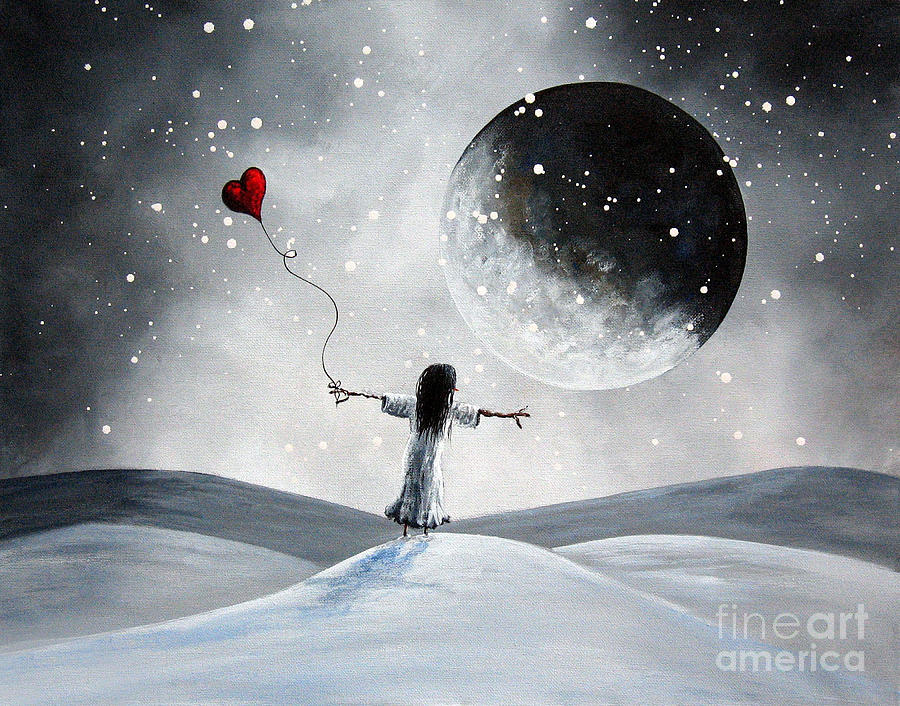 Surreal Painting - One Small Dream By Shawna Erback by Shawna Erback