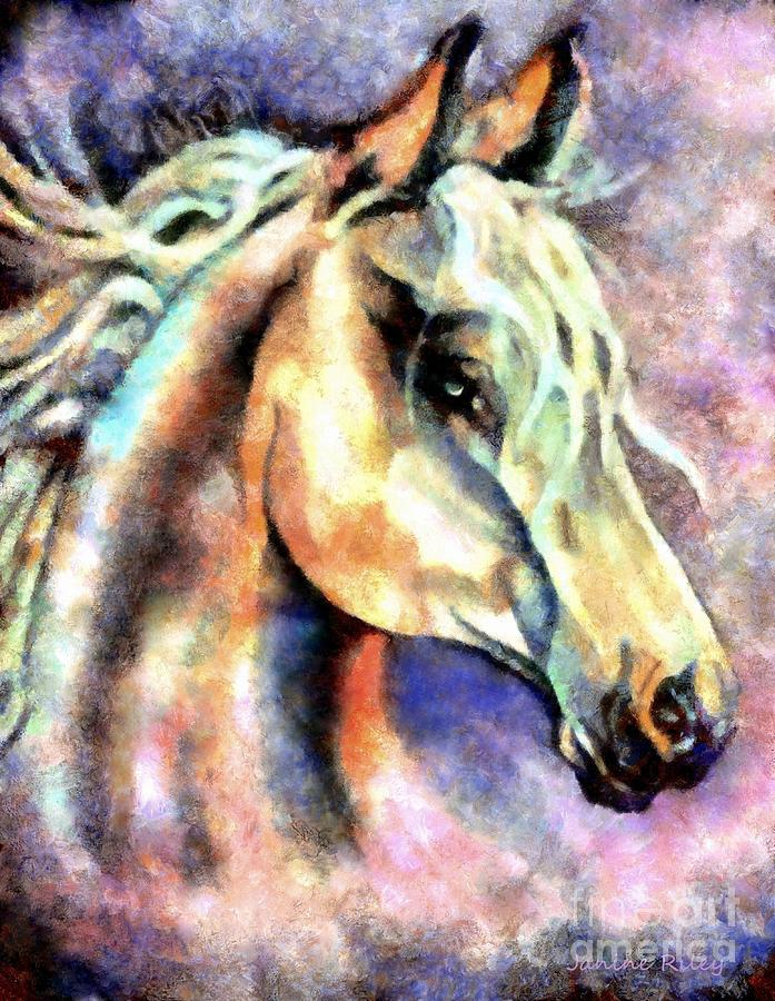 Spirit Painting - One Spirit by Janine Riley
