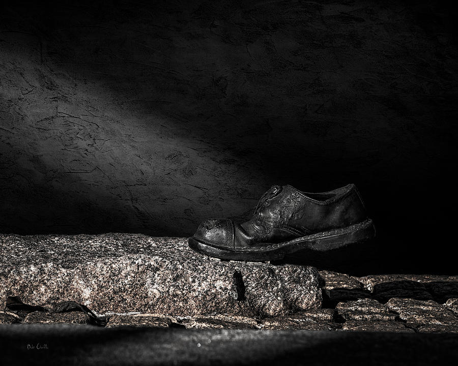 Shoe Photograph - One Step by Bob Orsillo