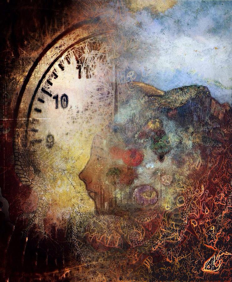 Clock Digital Art - One Thought Fills An Immensity  by Dan Hill