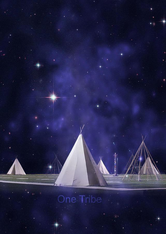 Tee Pee Photograph - One Tribe by Laura Fasulo