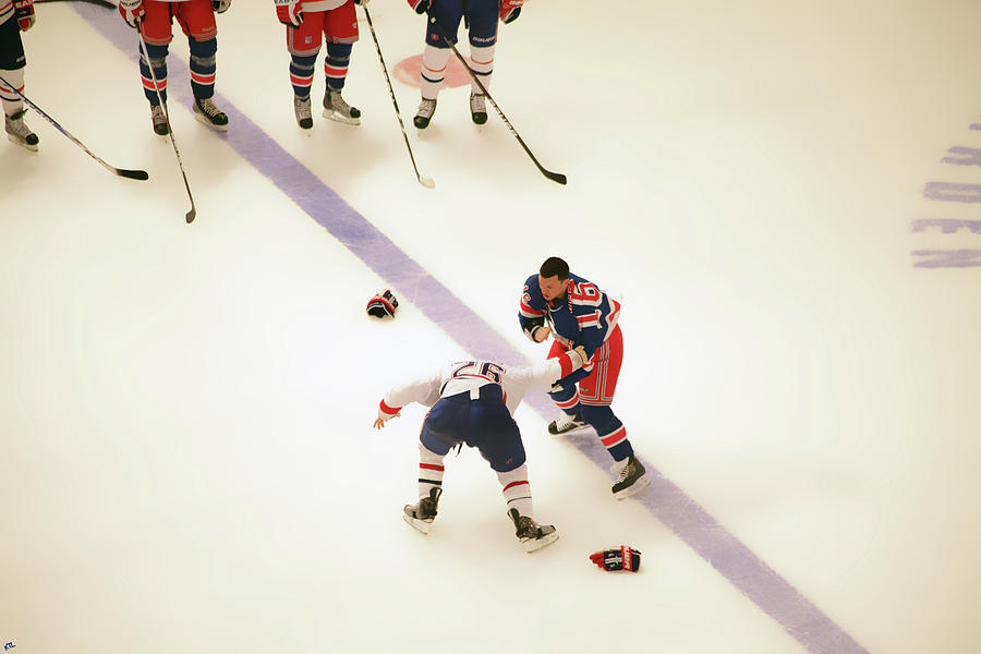Hockey Photograph - One Two Punch by Karol Livote