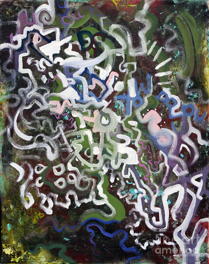 Abstract Painting - one Used to be Two by J Ethan Hopper
