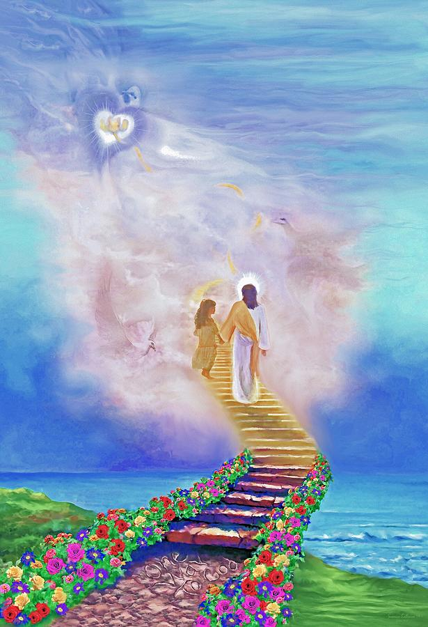 Christian Painting Painting - One Way To God by Susanna  Katherine