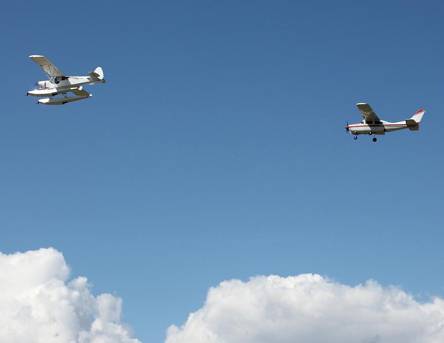 Aircraft Photograph - Ongoing Flight  by Mavis Reid Nugent